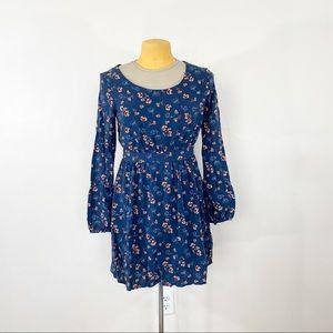 Charlotte Russe Floral Long Sleeve Mini Dress